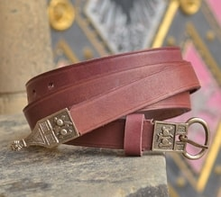 MEDIEVAL BELT, red leather