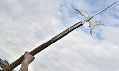 Halberd, replica of a two-handed pole weapon