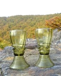 RENAISSANCE GOBLETS, two pieces