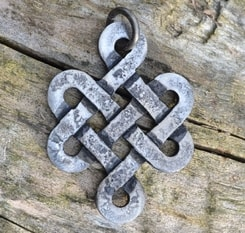 CELTIC KNOT OF LIFE, forged pendant
