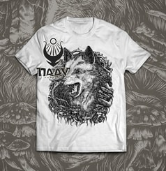WOLF, men's T-shirt white, Druid collection