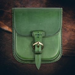 GENTLEMAN, Leather Belt Bag - green