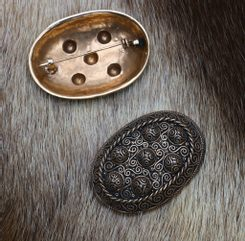 VIKING TURTLE BROOCH, Hedeby, bronze - pair