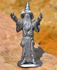 WIZARD. tin figure
