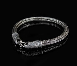 SCANIA, Crow, Viking Knit, Bracelet, silver