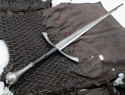 DORIAN HAND-AND-A-HALF MEDIEVAL SWORD etched
