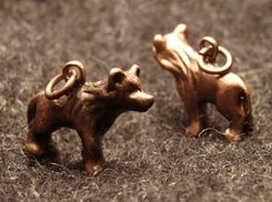 WOLF, coppered pendant