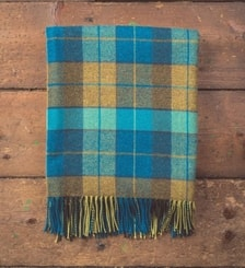 Peacock Tartan, Lambswool blanket, Ireland