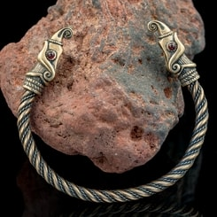 Huginn and Muninn, Viking Bracelet, bronze