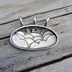 THE SKY, silver pendant