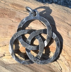 FORGED TRIQUETRA, Celtic Pendant