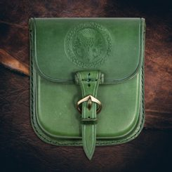 ALBA, Scottish Thistle, Leather Belt Bag - Green