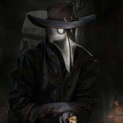 Plague Doctor, Leather Mask