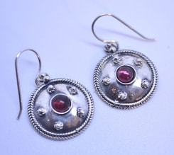 ANTICA ROMA, sterling silver earrings with a gem