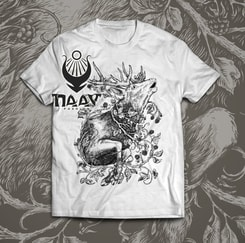 DEER, men's T-shirt white, Druid collection