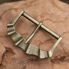 MEDIEVAL BELT BUCKLE Zinc ant. brass 40 mm