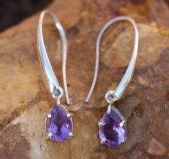 SINOPE earrings, silver and amethyst