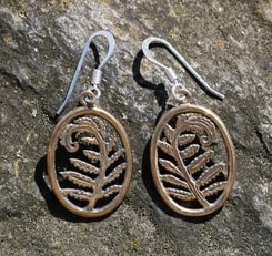 FERN, bronze earrings