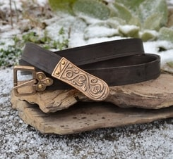 MORAVIA MAGNA, Slavic leather belt, brown