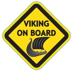 VIKING ON BOARD, autocollant pour voiture