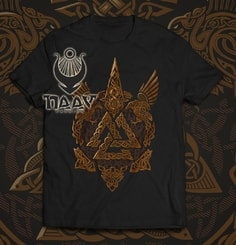 VALKNUT - Viking men's T-shirt colored
