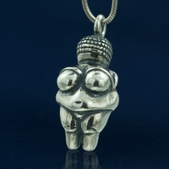 Venus of Willendorf, silver pendant