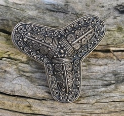 Viking Trefoil Brooch, bronze