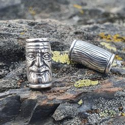 VIKING BEARD RING - Greybeard, silver
