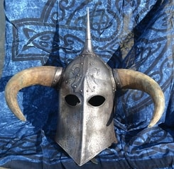 DARK LORD, fantasy helmet with horns