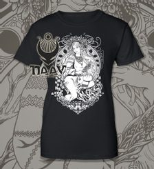 SLAVIA Slav Goddess T-Shirt ladies W&B