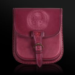 ALBA, Scottish Thistle, Leather Belt Bag - Red