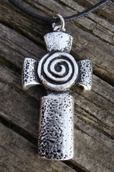 CELTIC CROSS with SPIRAL, necklace