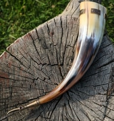 IVAR, Viking drinking horn, bronze fittings 0.5 l