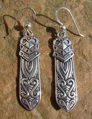 MAORI, silver earrings, Ag 925