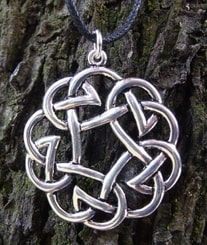 Celtic Knot Pendant, silvered