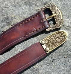 Brown Viking Leather Belt, Gokstad, tin