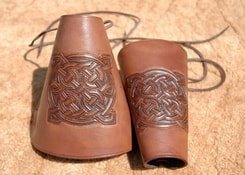 LEATHER BRACERS - Celtic symbols IV