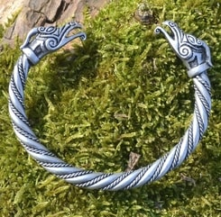 DRAIG Celtic Dragon Silver Plated Tin Alloy Bracelet