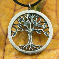 Tree of Life pendant, sterling silver