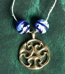 CELTIC KNOT OF LIFE, replica, I. century, Gallia?, bronze, necklace