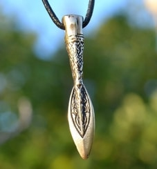 GUNGNIR, Spear of Odin, bronze pendant