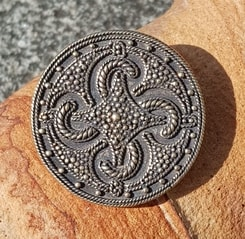 Viking Swastika Thumby-Bienebek, brooch, bronze - replica