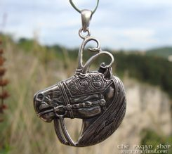 CELTIC WARRIOR HORSE pendant, Ag 925