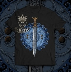 Claíomh Solais - Sword of Light, men's T-shirt - blue