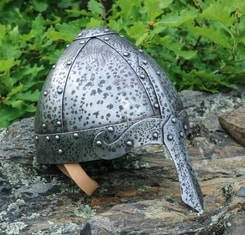 NORMAN NASAL HELMET DECORATED with Patina