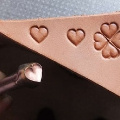 HEART, leather stamp