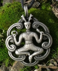 Cernunnos - the Horned Celtic God - amulet