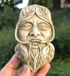 GREENMAN, Nature Spirit Wall Plaque