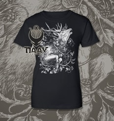 DEER, women's T-shirt black, Druid collection