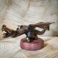 NORGAN - DRAGON. tin figure - bronze patina